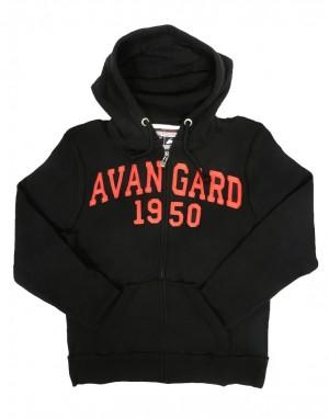 """HC Avangard Omsk """"1950 Vintage"""" hoodie sweatshirt, KHL licensed, black"""
