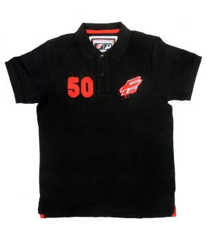 "HC Avangard ""1950 Vintage"" Pique Polo-shirt, KHL licensed, black"