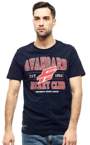 HC Avangard Omsk KHL Russian Hockey Club T-Shirt, black