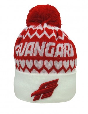 "HC Avangard Omsk Beanie Hat ""Classic"" with pom, white"