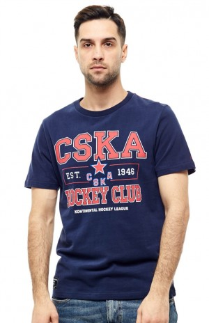 HC CSKA MOSCOW KHL RUSSIAN HOCKEY CLUB T-SHIRT