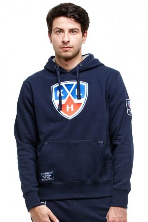 KHL Logo Sweatshirt Hoodie, navy