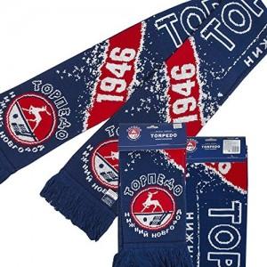 """KHL knitted scarf """"HC Torpedo Nizhny Novgorod est 1946"""""""