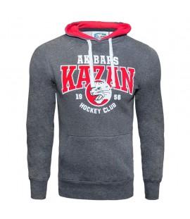 AK Bars Kazan KHL Hockey Club Hoodie Sweatshirt with pocket, Size M