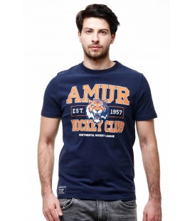HC Amur Khabarovsk KHL Russian Hockey Club T-Shirt, dark blue