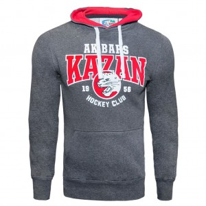 AK Bars Kazan KHL Hockey Club Hoodie Sweatshirt with pocket, Size M
