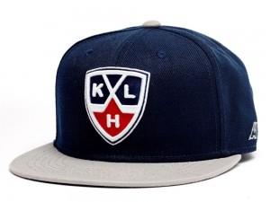KHL Logo Flat Bill Snapback Cap