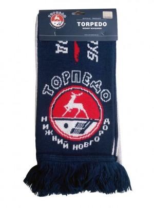 """KHL Scarf knitted """"Hockey Club Torpedo Nizhny Novgorod"""""""